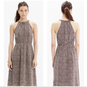 Madewell Silk Maroon Print Dress